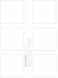 blank post-it note 3x3 template - tatertotsandjello